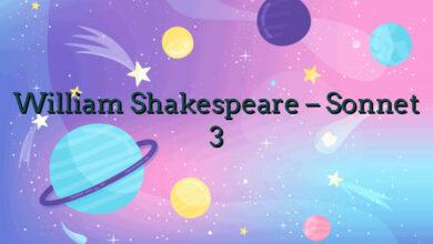 William Shakespeare – Sonnet 3