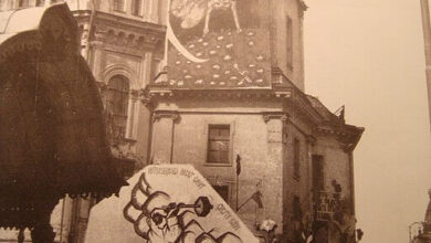 Petrograd art monument, 1919