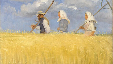 Anna Ancher, Harvesters, 1905