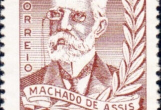 Brazil postage stamp, Machado de Assis, 1958