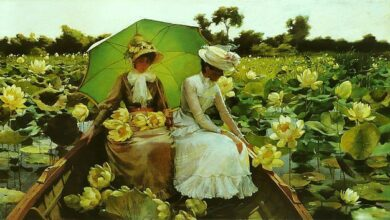 Charles Courtney Curran, Lotus lilies, 1888