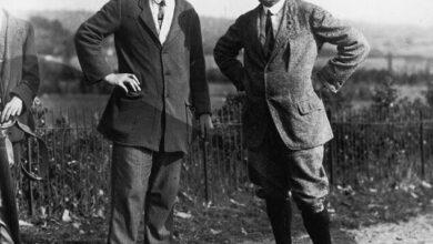 Golfers Ted Ray & Harry Vardon, 1920