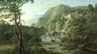 Johan Christian Dahl, Mountain landscape with castle, 1816