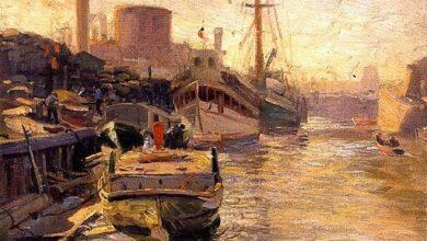 Joseph Kleitsch, Chicago River, 1915