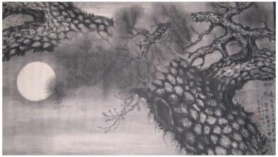 Ong Schan Tchow, Pine In moonlight, 2012
