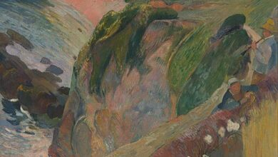 Paul Gauguin, Flageolet player on the cliff, 1899