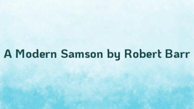 A Modern Samson by Robert Barr