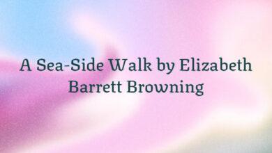 A Sea-Side Walk by Elizabeth Barrett Browning