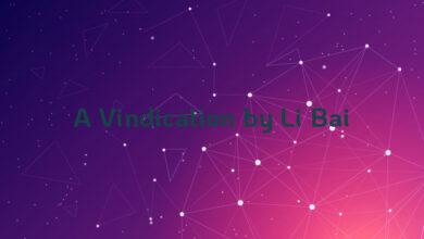 A Vindication by Li Bai