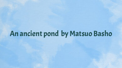 An ancient pond… by Matsuo Basho