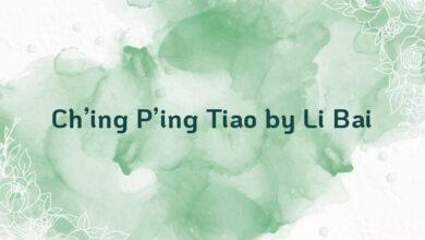 Ch'ing P'ing Tiao by Li Bai