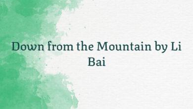 Down from the Mountain by Li Bai