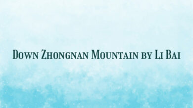 Down Zhongnan Mountain by Li Bai