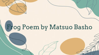 Frog Poem by Matsuo Basho