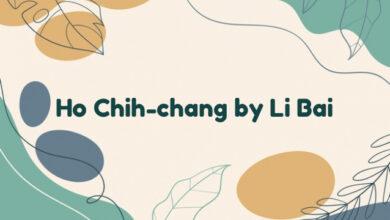 Ho Chih-chang by Li Bai