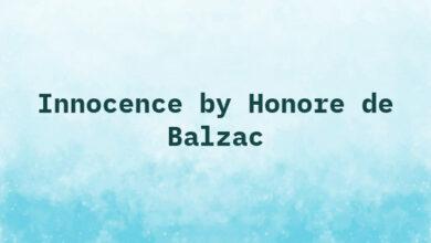 Innocence by Honore de Balzac