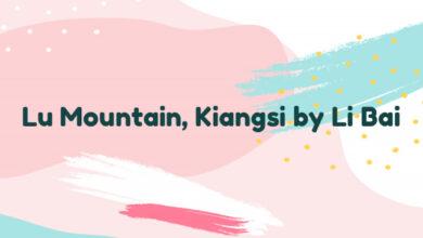 Lu Mountain, Kiangsi by Li Bai