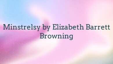 Minstrelsy by Elizabeth Barrett Browning