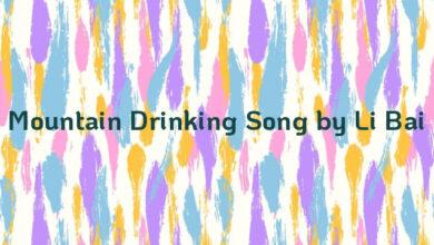 Mountain Drinking Song by Li Bai
