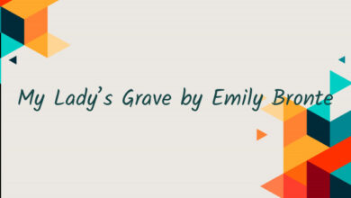 My Lady's Grave by Emily Bronte