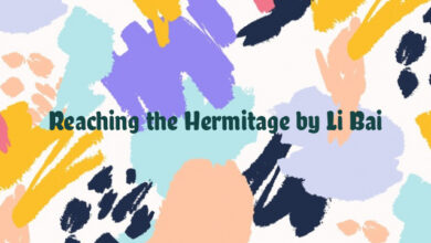 Reaching the Hermitage by Li Bai