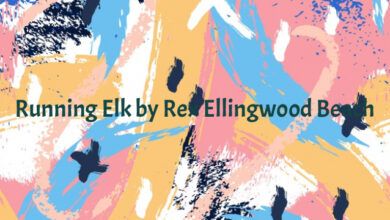 Running Elk by Rex Ellingwood Beach