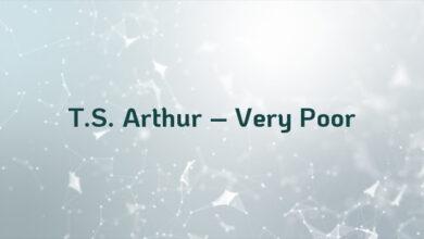 T.S. Arthur – Very Poor