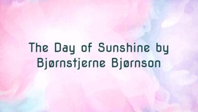 The Day of Sunshine by Bjørnstjerne Bjørnson