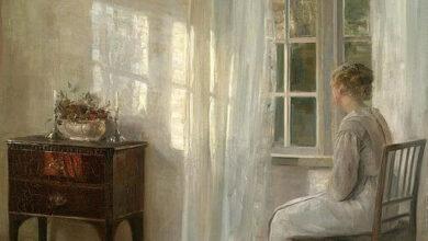 Carl Halsoe, Waiting by the Window, 1863