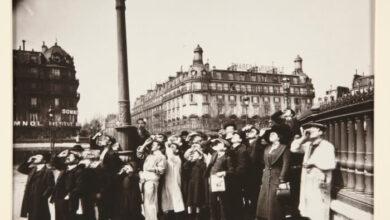 Eugène Atget, Eclipse observers in France, 1912