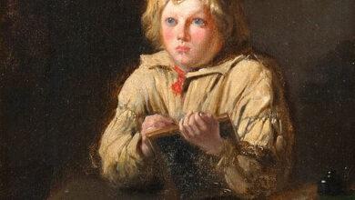 Ivan Gorochov, Writing boy, 1900