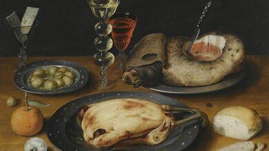 Osias Beert, Still Life of a Roast Chicken