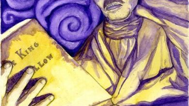 Tucker Sherry, Hildred Castaigne reading The King in Yellow, 2011
