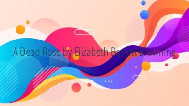 A Dead Rose by Elizabeth Barrett Browning