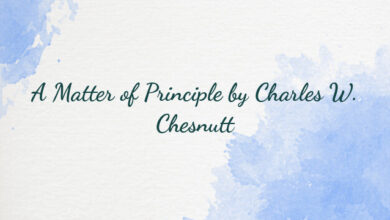 A Matter of Principle by Charles W. Chesnutt
