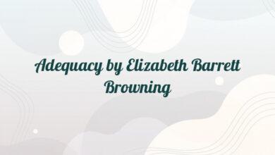 Adequacy by Elizabeth Barrett Browning