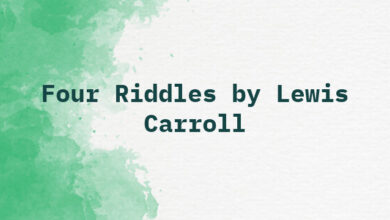 Four Riddles by Lewis Carroll