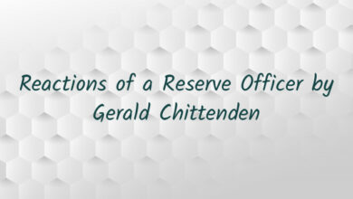 Reactions of a Reserve Officer by Gerald Chittenden