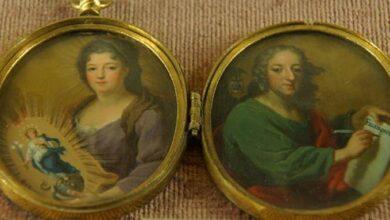 Locket with miniatures of Teresa Sobieska and St. John, 1710s