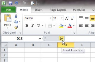 Image of How to insert a function in Excel