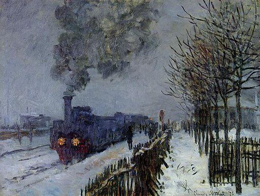 Claude Monet, Train in the Snow