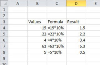 image of Simple formula in Excel using Constants