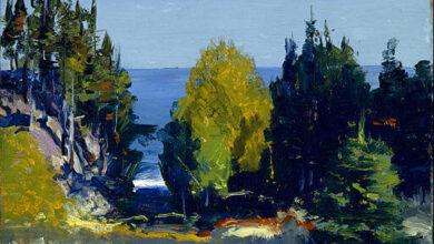 George Bellows, The Grove, Monhegan, Maine, 1913
