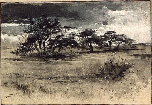 Harry Fenn, Thorn-trees near Niagara, 1887