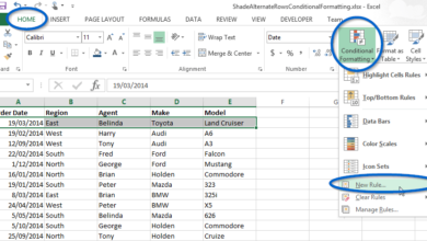 How to shade alternate rows with Conditional Formatting