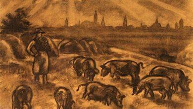 Iványi Grünwald Béla, Herd of Pigs, early 1900s