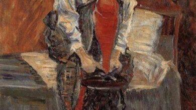 Paul Signac, Red silk stockings, 1935