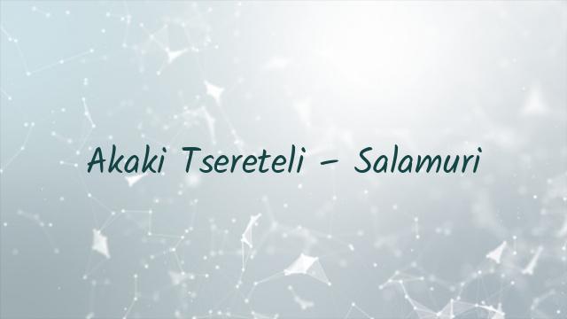 Akaki Tsereteli – Salamuri