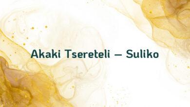 Akaki Tsereteli – Suliko