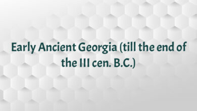 Early Ancient Georgia (till the end of the III cen. B.C.)
